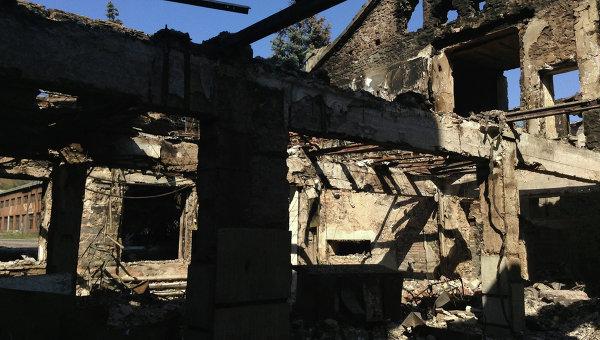 Здание шахты Новомоспинская  в городе Моспиноо Донецкой области