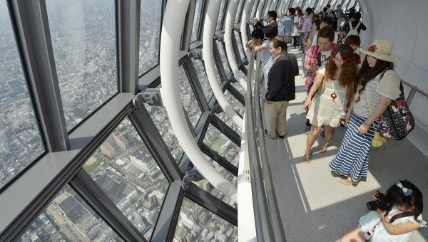 Вид на Токио с телебашни Skytree. Архивное фото