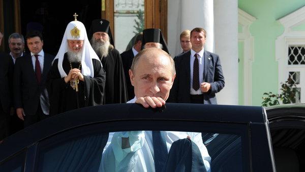 Владимир Путин принимает участие в мероприятиях к 700-летию со дня рождения Сергия Радонежского. Архивное фото