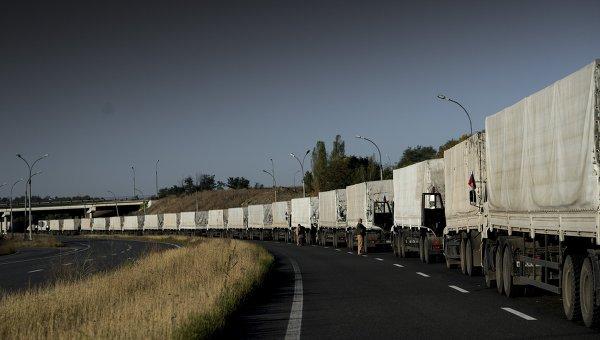 Третий гуманитарный конвой прибыл на Украину. Архивное фото