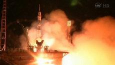 Полет Союза к МКС: проводы космонавтов на орбиту и кадры старта