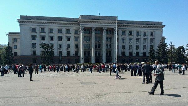 Дом профсоюзов на Куликовом поле в Одессе. Архивное фото