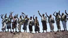 Шиитские повстанцы в Йемене. Архивное фото