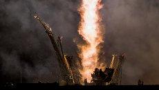 Старт ракеты Союз ТМА-14М на космодроме Байконур. Архивное фото