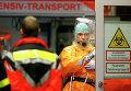 Медицинский персонал перед прибытием больного лихорадкой Эбола в госпиталь Франкфурта. 3 октября 2014 год