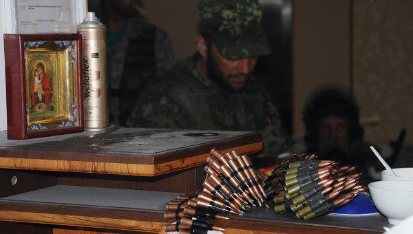 Ополченцы Донецкой народной республики (ДНР), архивное фото