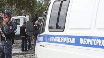 Полицейские на месте взрыва. Архивное фото