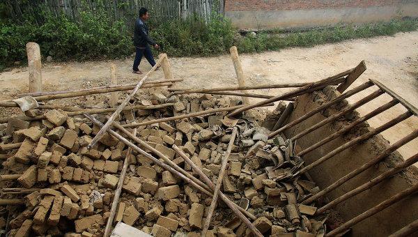 Последствия землетрясения в Китае. 8 октября 2014