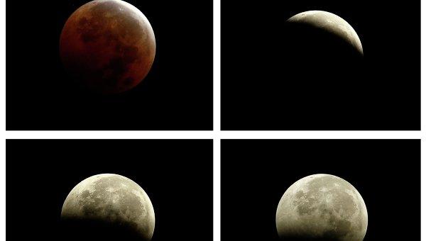 Фазы луны во время полного затмения 8 октября 2014