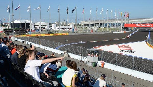 Зрители на российском этапе гонок Формула-1. Архивное фото