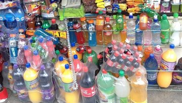 Продажа газированных напитков на улицах боливийской столицы