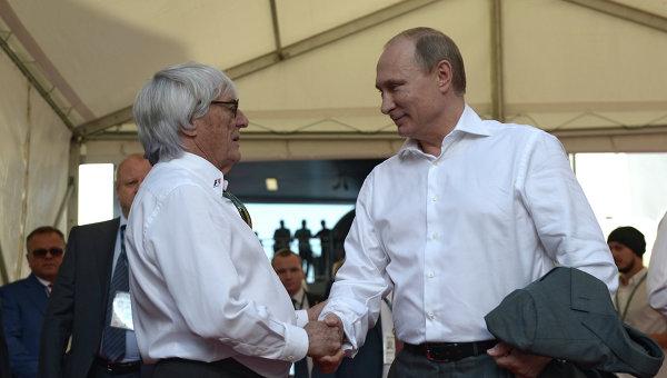 В.Путин посетил российский этап гонки чемпионата мира по кольцевым автогонкам в классе Формула-1