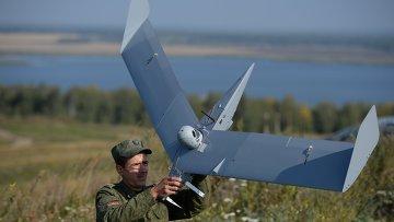 Запуск беспилотного летательного аппарата. Архивное фото