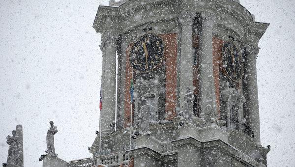 Башня городской ратуши в Екатеринбурге. Архивное фото