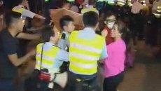 Активисты Occupy Central устроили потасовку с полицией в Гонконге