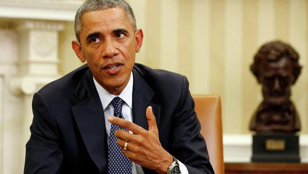 Президент США Барак Обама на совещании по координации борьбы с вирусом Эбола. Архивное фото