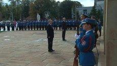 Президенты РФ и Сербии почтили память освободителей Белграда. Кадры церемонии
