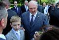 Президент Белоруссии Александр Лукашенко с сыном Николаем