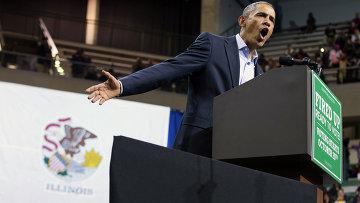Президент США Барак Обама выступает в рамках своей кампании в Чикагском университете, архивное фото.