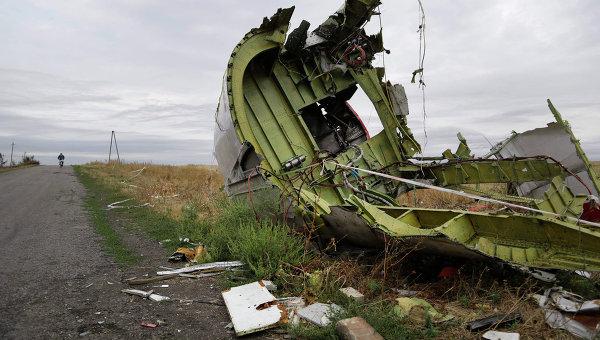 На месте крушения малайзийского самолета Boeing 777 в Донецкой области