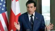 Президент Грузии Михаил Саакашвили. Архивное фото.