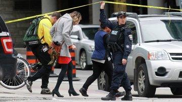 Полицейское оцепление в Оттаве
