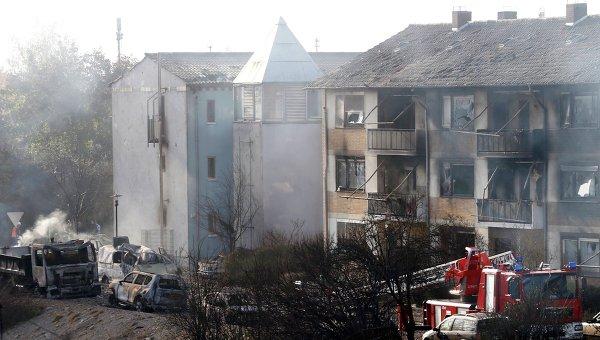 Взрыв бытового газа в городе Людвигсхафен. Германия, 23 октября 2014
