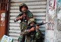 Солдаты ливанской армии в столкновении с боевиками-исламистами