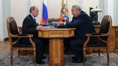 Владимир Путин  и Владимир Фортов. Архивное фото
