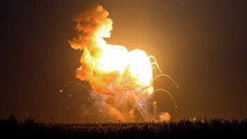 Взрыв ракеты-носителя Antares с космическим грузовиком Cygnus