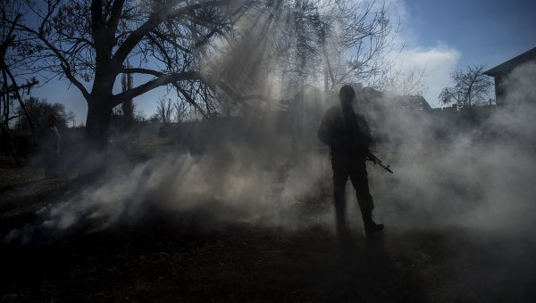 Боец ополчения ЛНР в Луганской области. Архивное фото