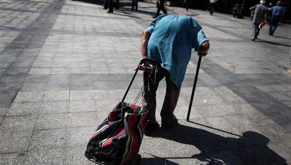 Греческий пенсионер. Архивное фото.