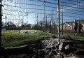 Место обстрела школы в Донецке. 6 ноября 2014