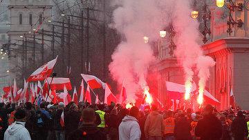 Марш независимости в Варшаве, Польша