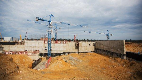 Вид на строительную площадку стартового стола космодрома Восточный. Архивное фото