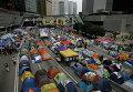 Лагерь протестующих в административном районе Гонконга
