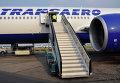 "Самолет Боинг-777 авиакомпании ""Трансаэро"" в аэропорту. Архивное фото"