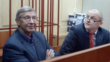 Глава АФК Система Владимир Евтушенков в зале заседаний Басманного суда. Архивное фото