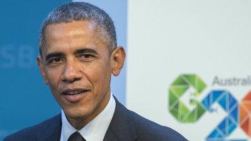Президент США Барак Обама перед началом саммита Группы двадцати