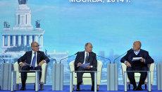 В.Путин принял участие в пленарном заседании второго Форума действий ОНФ. Архивное фото