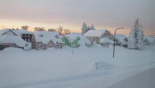 Снегопад в штате Нью-Йорк