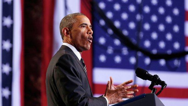 Президент США Барак Обама во время выступления в Чикаго. Архивное фото