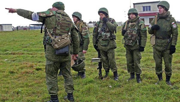Военнослужащие в Калининградской области. Архивное фото