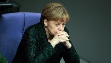 Канцлер Германии Ангела Меркель в Бундестаге. Архивное фото