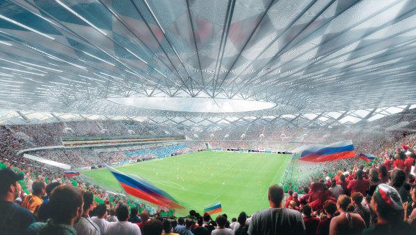 Футбольный стадион в Волгограде к ЧМ-2018. Архивное фото