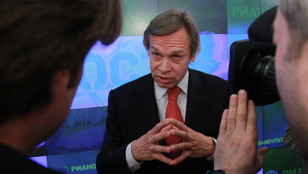 Председатель комитета Госдумы по международным делам Алексей Пушков. Архивное фото