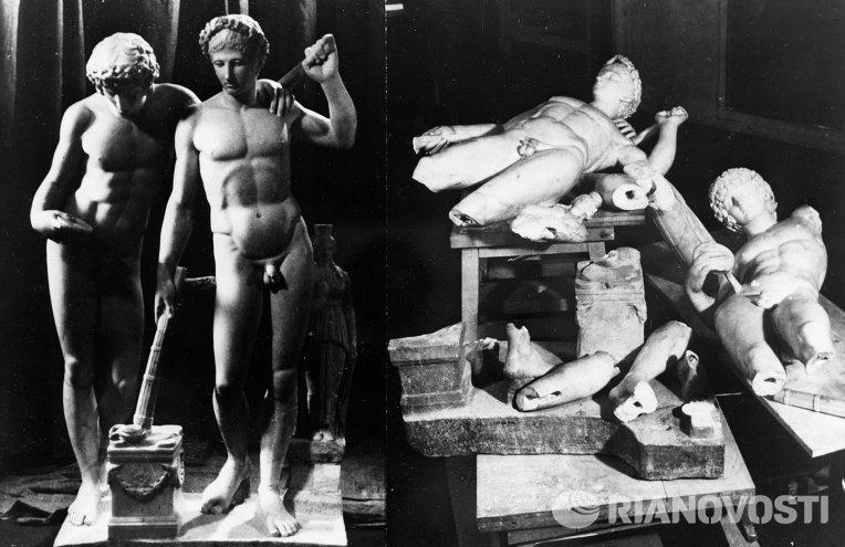 Античные скульптуры Государственного Эрмитажа до и после реставрации