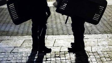 Сотрудники милиции в центре Киева. Архивное фото