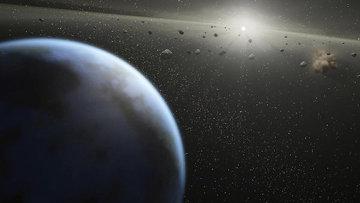 Астероиды в орбите. Архивное фото