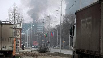 Дом печати в Грозном, где проходила спецоперация. Архивное фото